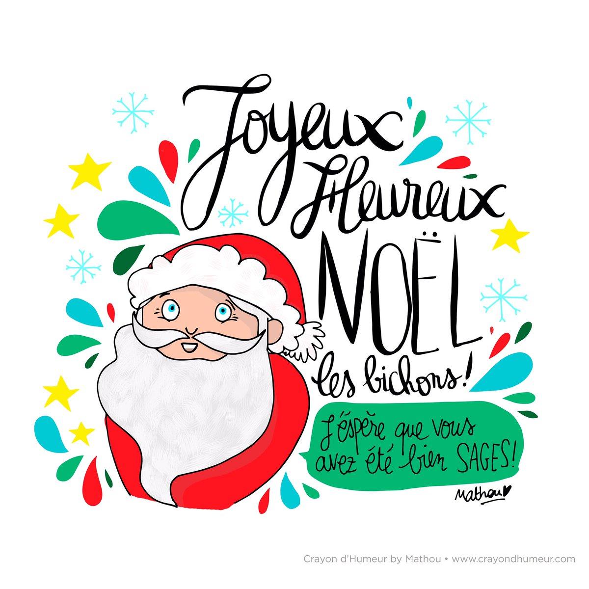 Mathou virfollet on twitter joyeux no l joyeux no l les bichons mathou - Dessin joyeux noel ...