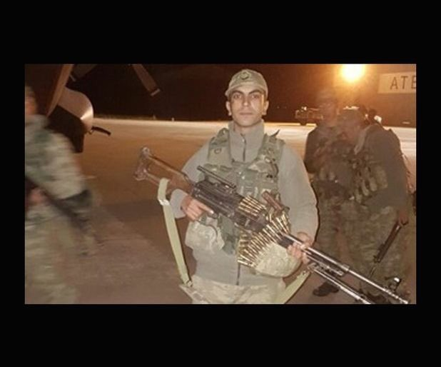 Turkish Sergeant Osman Şen, wounded by an IS attack, says Turkish soldiers are not afraid of anything but God.