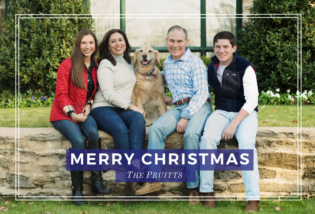 Image result for photo of scott pruitt with his family