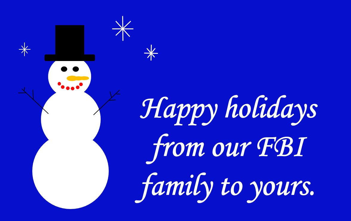 Fbi On Twitter Happy Holidays From The Fbi