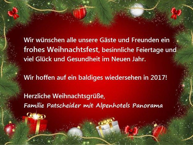Weihnachtsgrüße Für Gäste.Alpenhotel Panorama On Twitter Alpenhotelresia Weihnachten