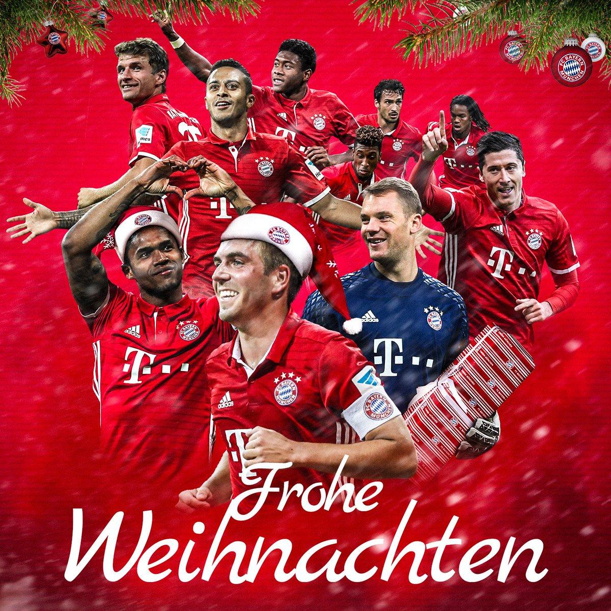 Wir wünschen allen #FCBayern-Fans ein frohes Weihnachtsfest! 🎁 🎅 #FCBXmas