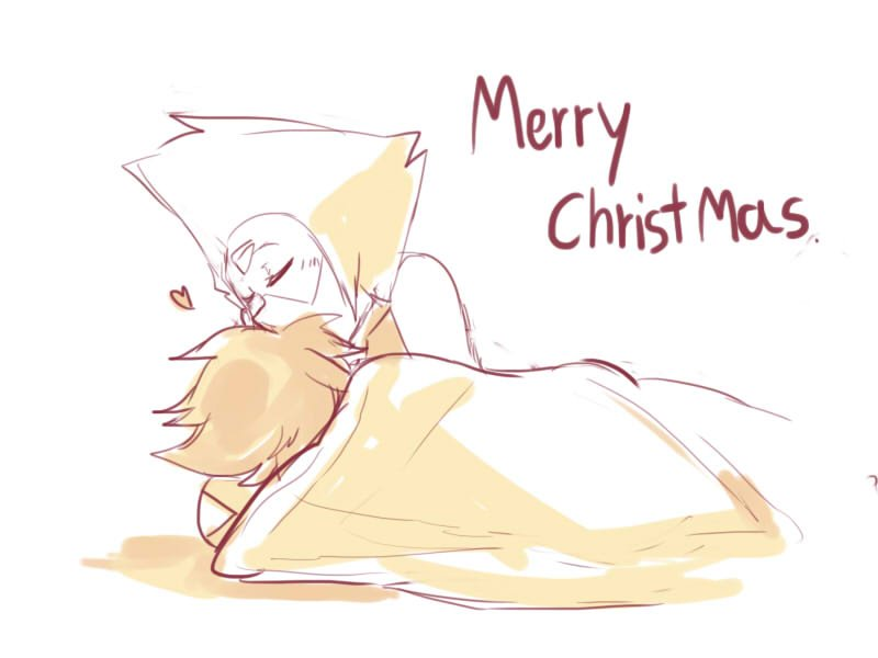 """Lapis likes sleeping and Peridot know that so she won't disturb her. Merry Christmas everyone.:3"""