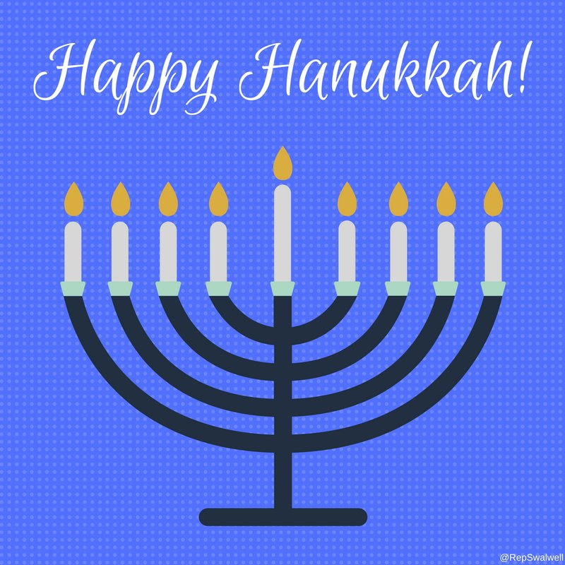 Wishing all my Jewish friends and neighbors a joyous Festival of Lights. https://t.co/ePnWF7KeX4