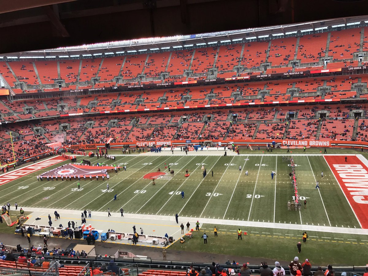 This is as Small an attendance as I Have ever seen At A Browns Game!!Go Browns https://t.co/TYxsFUF8nG