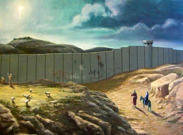 Jožef in Marija ne moreta v Betlehem. Božična čestitka kot jo vidi Banksy. https://t.co/wECoC6GusK https://t.co/1NP2vXlDIs