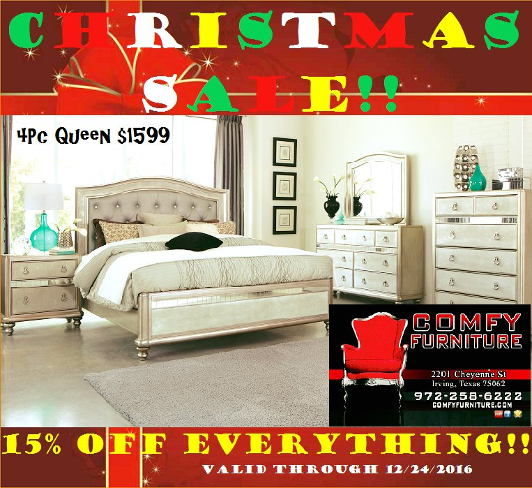 Comfy furniture on twitter christmas holiday sale 15 for Furniture stores in irving tx