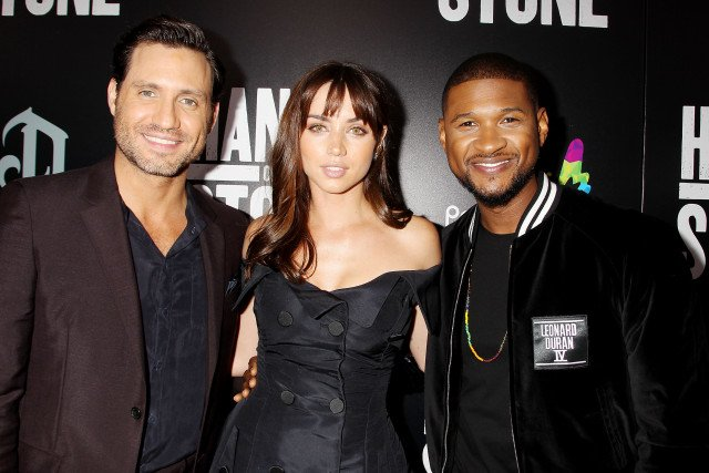 Usher Steps Out for 'Hands of Stone' Premiere