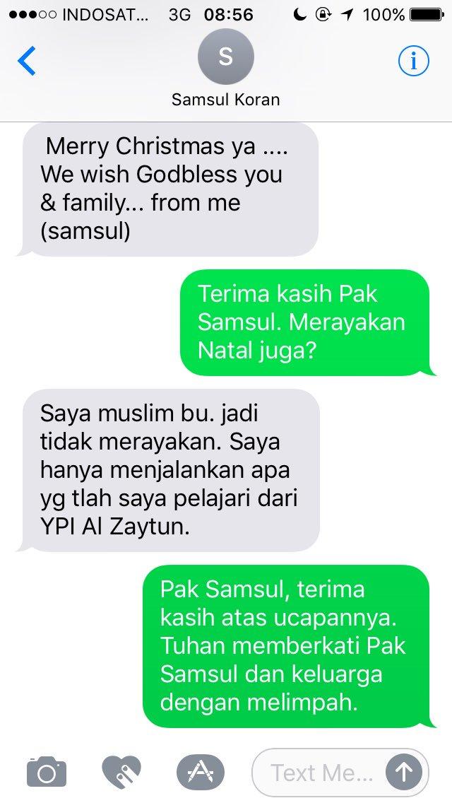 Ucapan Selamat Natal paling menyentuh pagi ini, dari Pak Samsul yang mengantar koran. https://t.co/bIrmcP9UTZ
