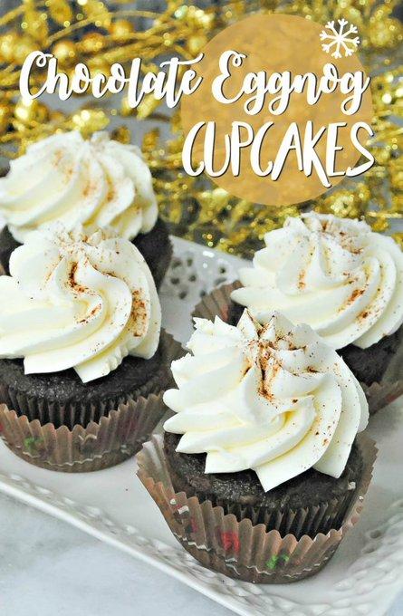 Chocolate Eggnog Cupcakes Recipe