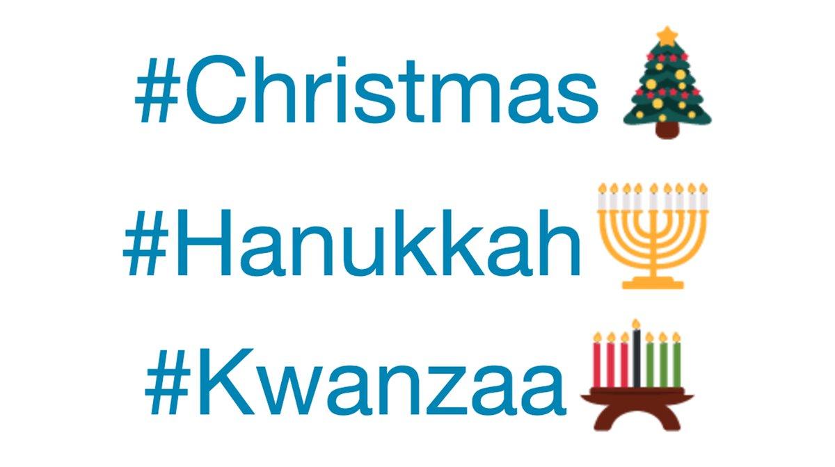 Christmas Hanukkah Kwanzaa And Other Holidays.Good Morning America On Twitter Holiday Hashtag Emojis On