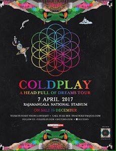 Jual 2 tiket Standing B #ColdplayBangkok. Buat yang minat langsung DM aja. Thanks. Cc: @SupirPete2 https://t.co/kODcHXnqNQ