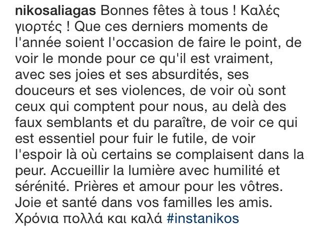 Merci @NikosAliagas pour ces mots qui ont une valeur inestimable.