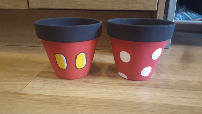Craft Project – Disney themed plant pots.