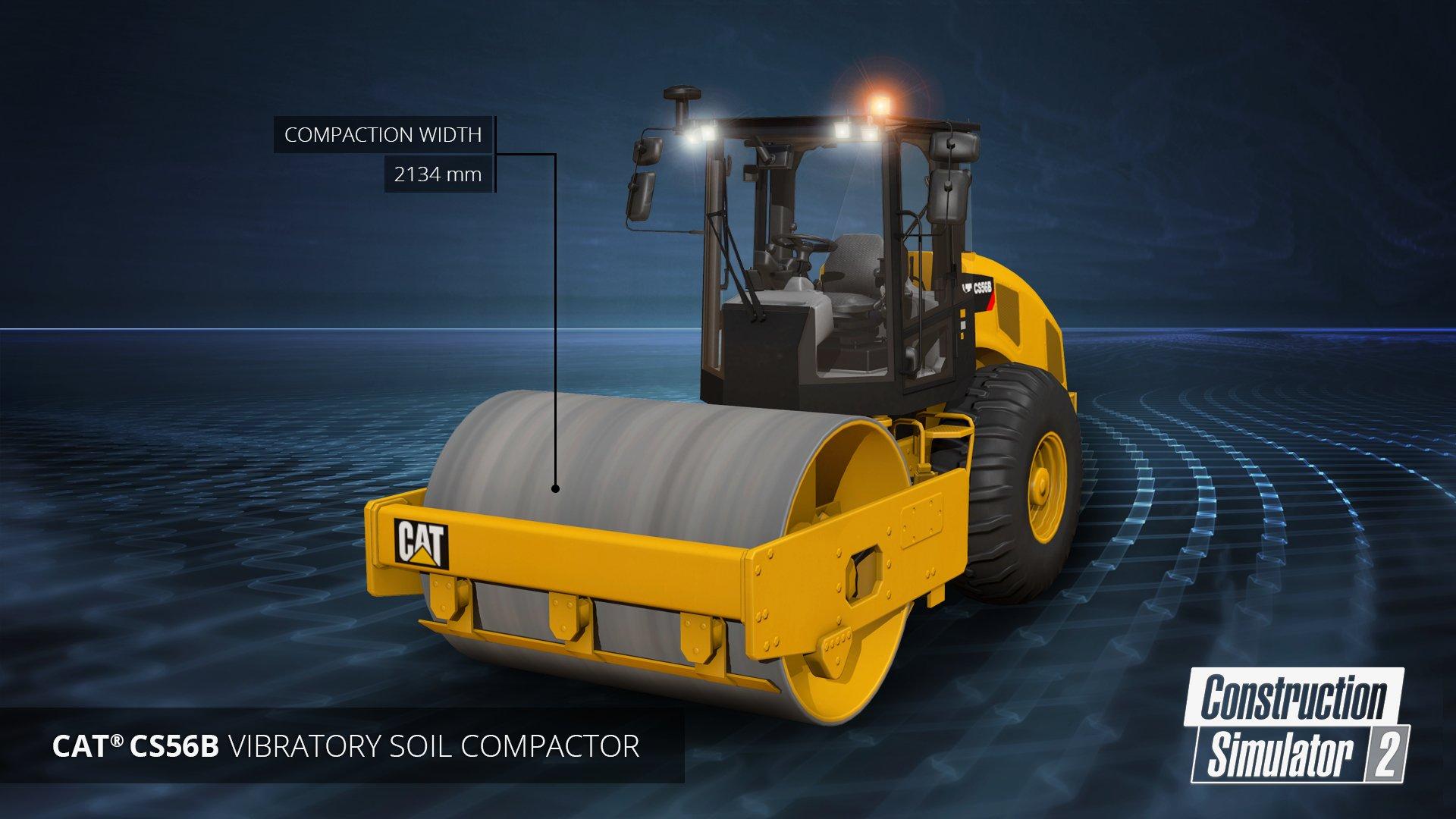 cs2 on twitter the cat cs56b vibratory soil compactor. Black Bedroom Furniture Sets. Home Design Ideas