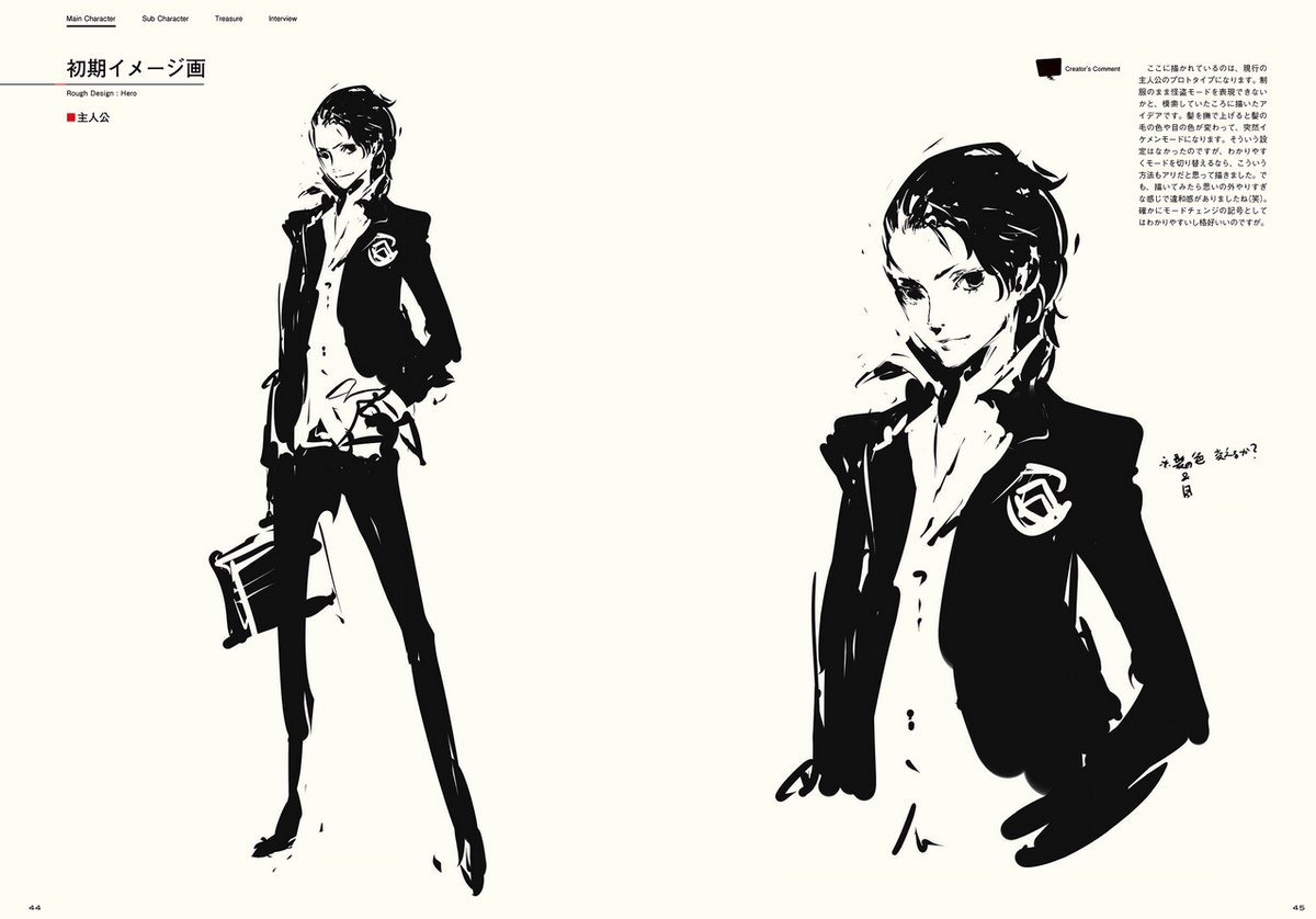 Concept Art Of The Persona 5 Protagonist From Official Visual Works Book Which Was Released In Japan On December 26pictwitter