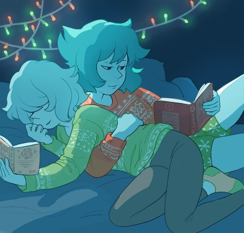 """christmas girlfriends for @Cldrawsthings merry christmas!!!"""
