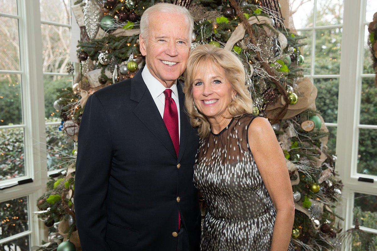 Merry Christmas from all the Bidens. For all those troops serving abroad, away from their families today, know that you're in our hearts.