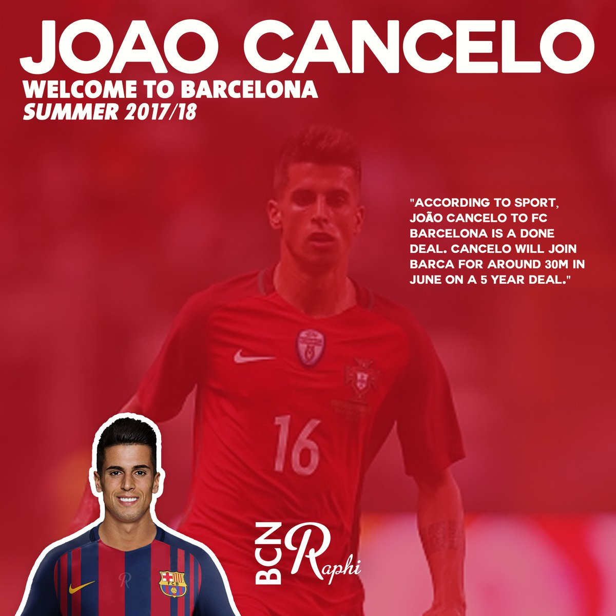 Raphi On Twitter Joao Cancelo Welcome To Barca Edit According To Sport Cancelo To Barca Is A Done Deal He Will Join For 30m On A 5 Year Deal Https T Co 4eog61ogcu
