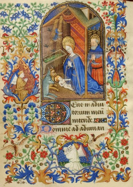 Merry Christmas! From an illuminated 15th-century book of hours written in Paris, here's a depiction of the Nativity https://t.co/QGmLz4ktNl https://t.co/t3IaxRpjsJ
