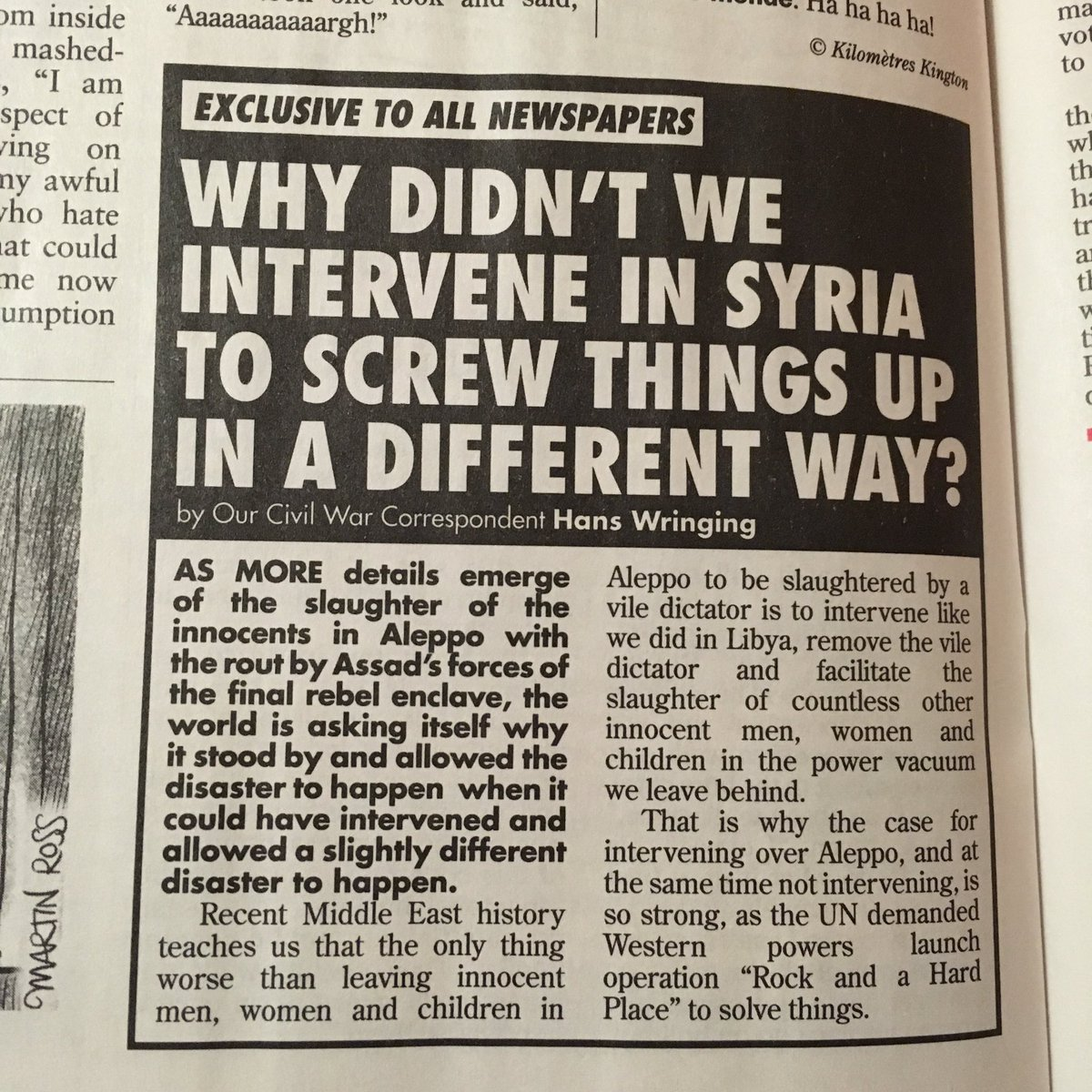 British satire about the war in Syria