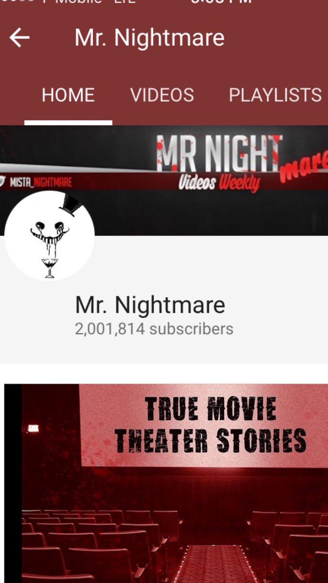 Media Tweets By Mr Nightmare Mista Nightmare Twitter 4 scary true night shift stories. twitter
