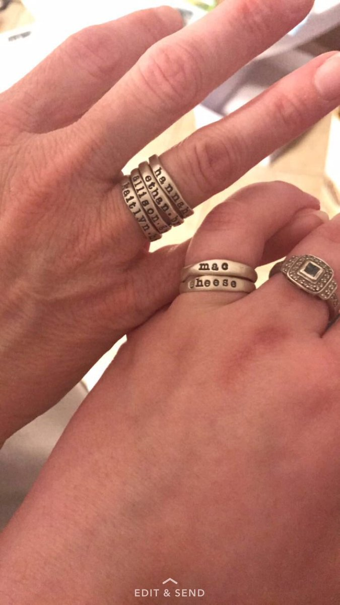 Allison On Twitter So We Ordered My Mom Custom Rings With All Of