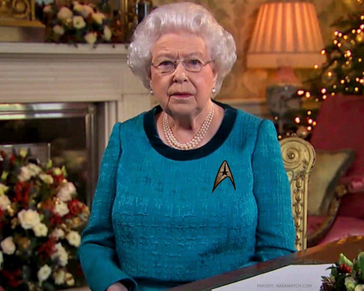Queen Elizabeth II bestowed  with honorary membership in Starfleet Medical for #Christmas.  #StarTrek https://t.co/iliKCUsSmB