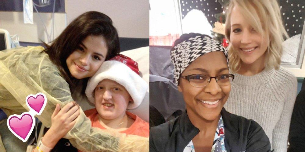 Selena Gomez e Jennifer Lawrence visitam hospitais infantis https://t.co/R3JNp72HnS