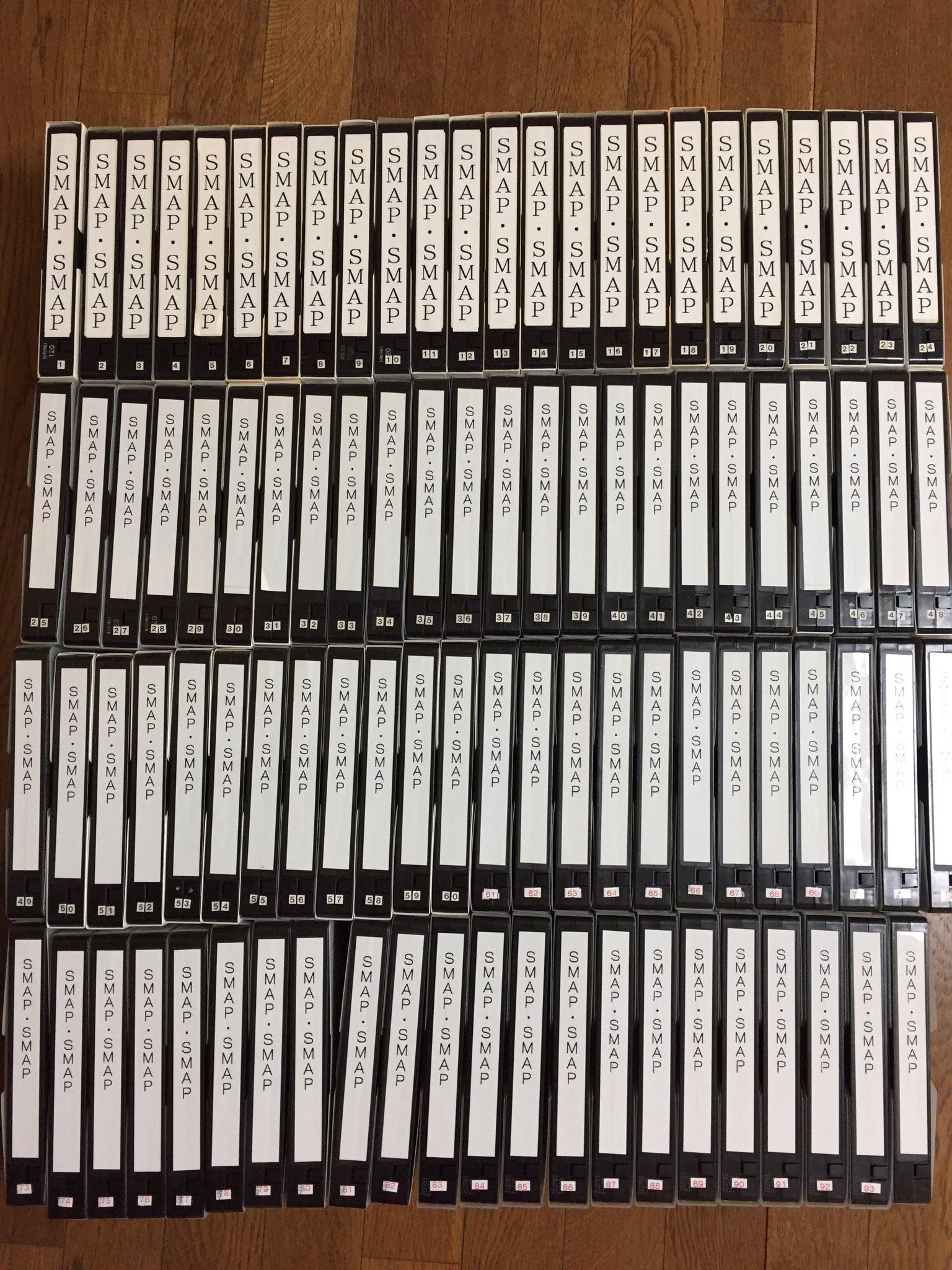 これが20年だぞ!! (ビデオ時代7回ほど延長とかで撮れてないけど^^;)ビデオ94本 DVD85枚 あたしのスマスマ人生 #SMAP  #スマスマ #スマスマ最終回