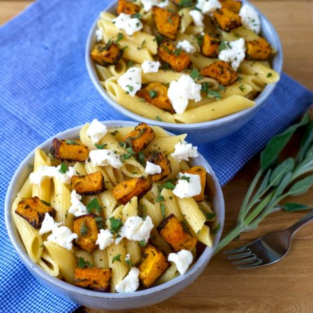 Roasted Butternut Squash, Sage and Ricotta Pasta