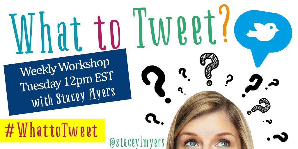 Join the #WhattoTweet Weekly Workshop to learn the latest Twitter strategies. https://t.co/TA4JmByHkK https://t.co/J23drzgkTc