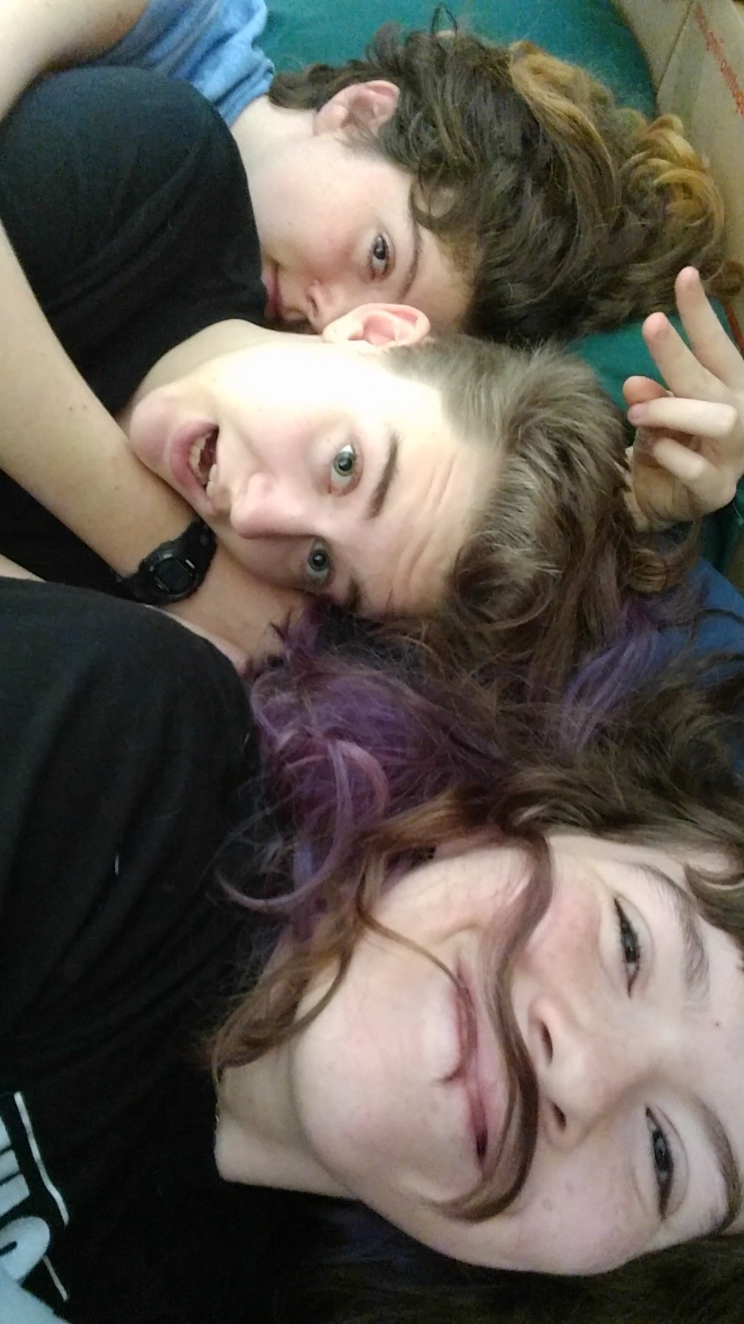Brittan, Emma and I cuddling