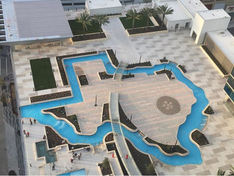 Jonathan martin fox26 on twitter texas shaped pool at new marriottmarquis in houston opened for Swimming pool supplies houston
