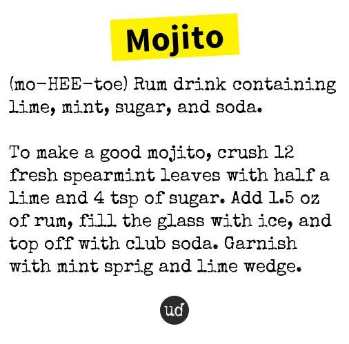 Mojito urban dictionary