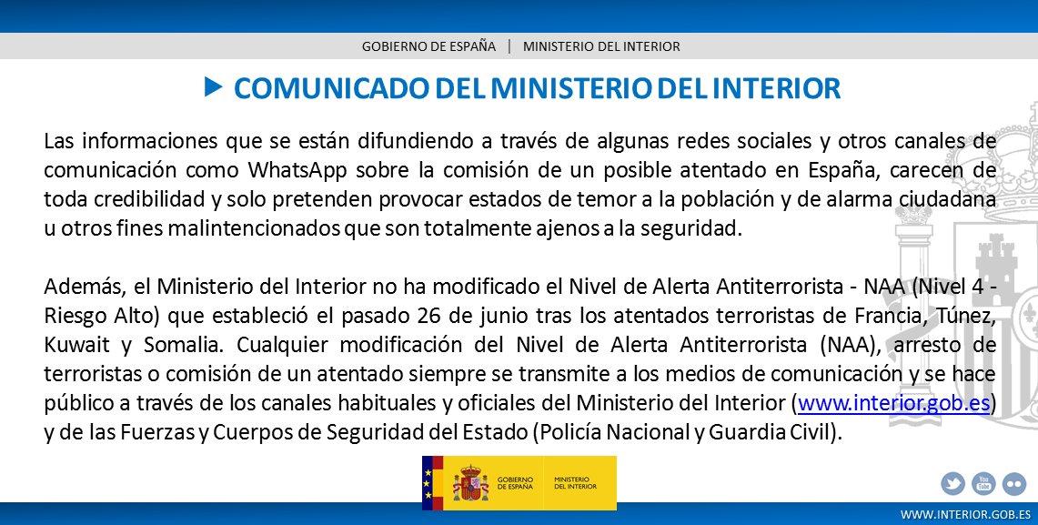 Ceade ceade twitter Comunicado ministerio del interior
