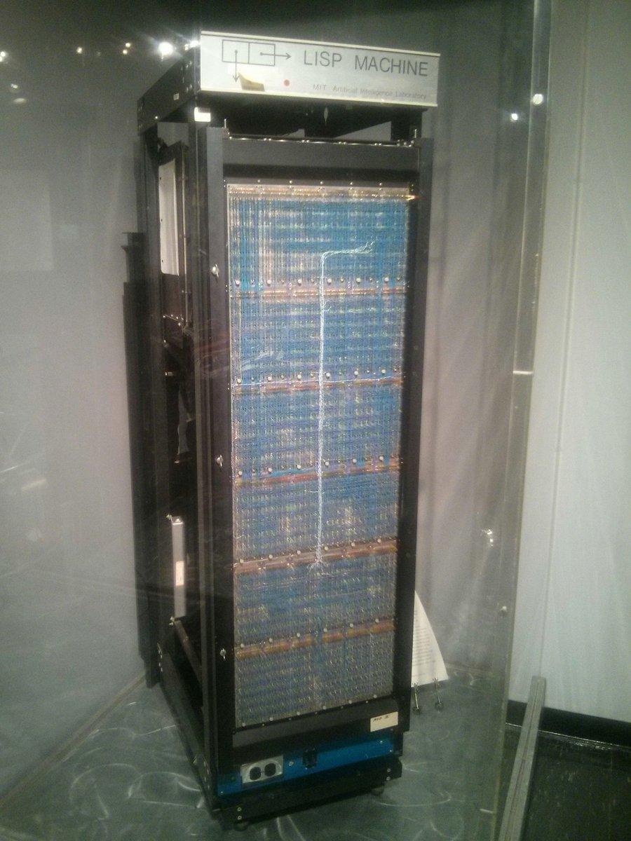 Original LISP Machine, MIT Museum https://t.co/IRQbcrRVJB