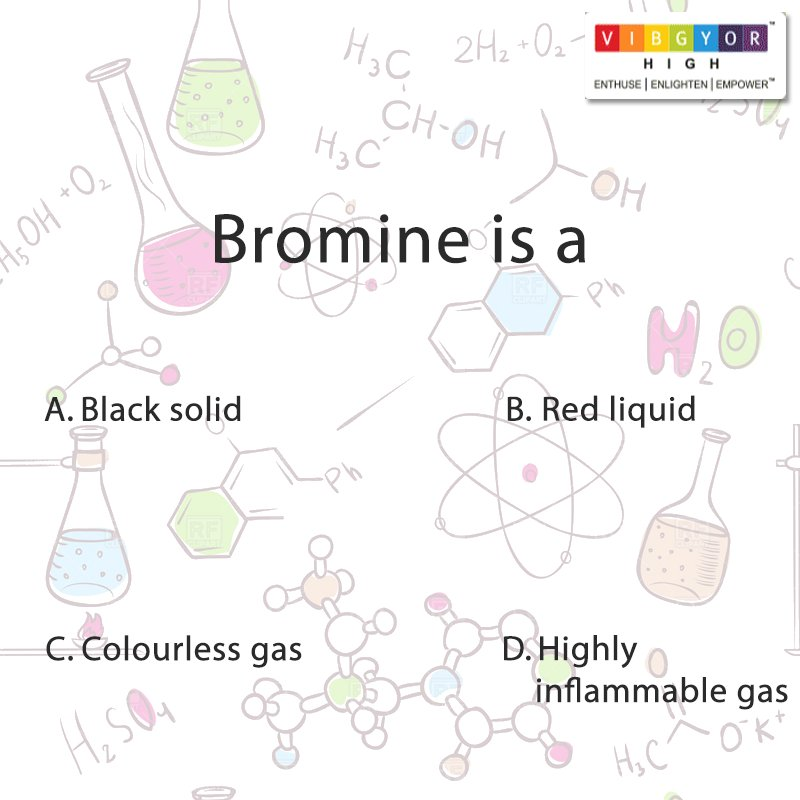 Vibgyor High On Twitter Hint Bromine Is A Chemical Element With