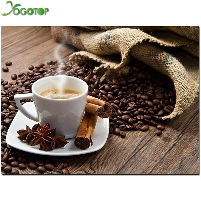 New arrival Coffee cup DIY diamond embroidery painting set full cross stitch rhinestone stick mosaic crafts painting NW052-in Diamond Painting Cross Stitch from Home & Garden on Aliexpress.com