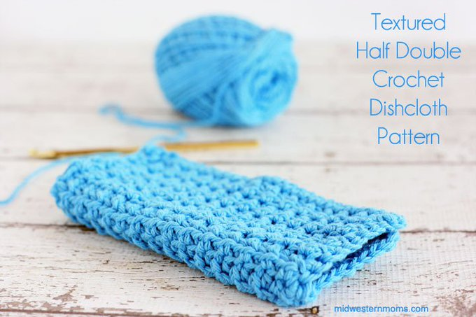 Textured Half-Double Crochet Dishcloth