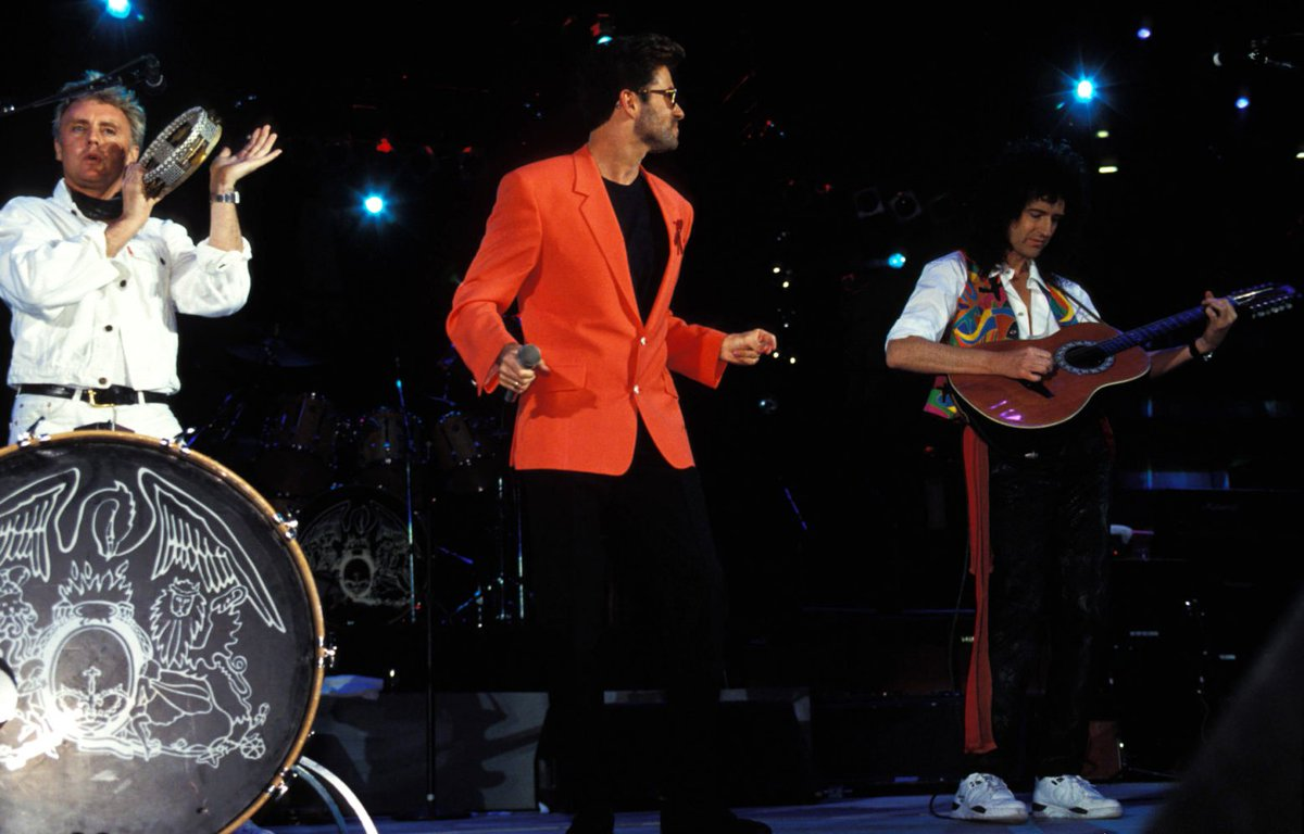 "George Michael e Queen nel video ""Somebody to Love"" al ""The Freddie Mercury Tribute Concert"""