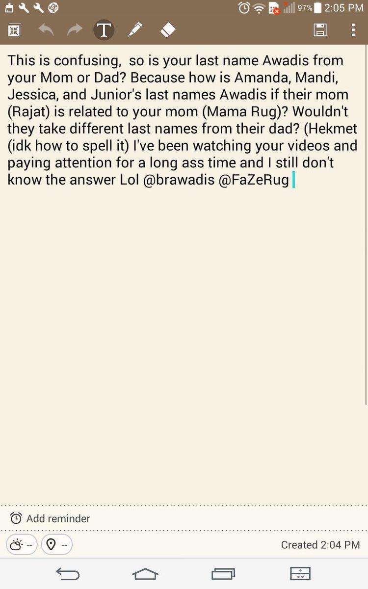 Brandon Awadis On Twitter Hikmat My Dad Are Brothers Just Like My Mom Raja Hahah