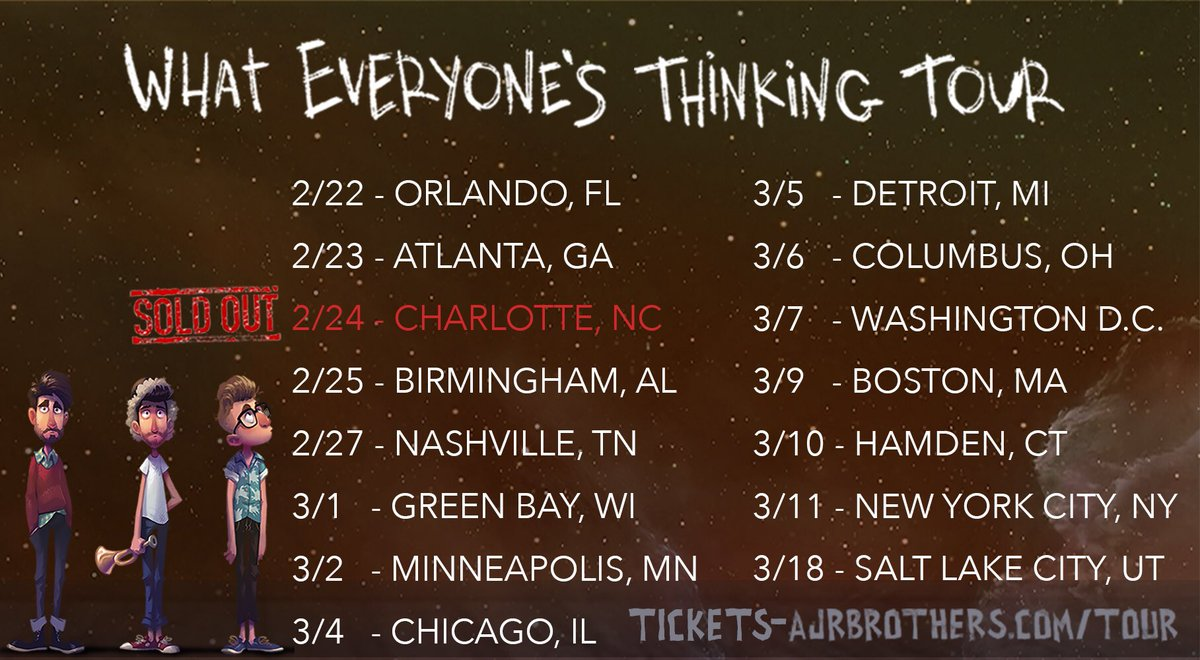Ajr on twitter so cool seeing all the people that are getting ajr on twitter so cool seeing all the people that are getting tickets as their holiday gifts getcha tix httpstcss4vfbckm kristyandbryce Choice Image