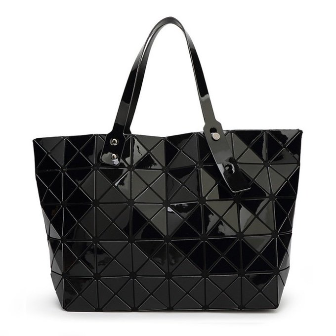 Top-handle Bags with Geometric Pattern