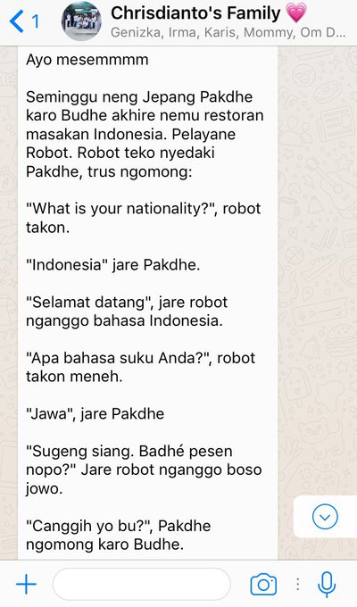 Cerita Lucu Lewat WhatsApp