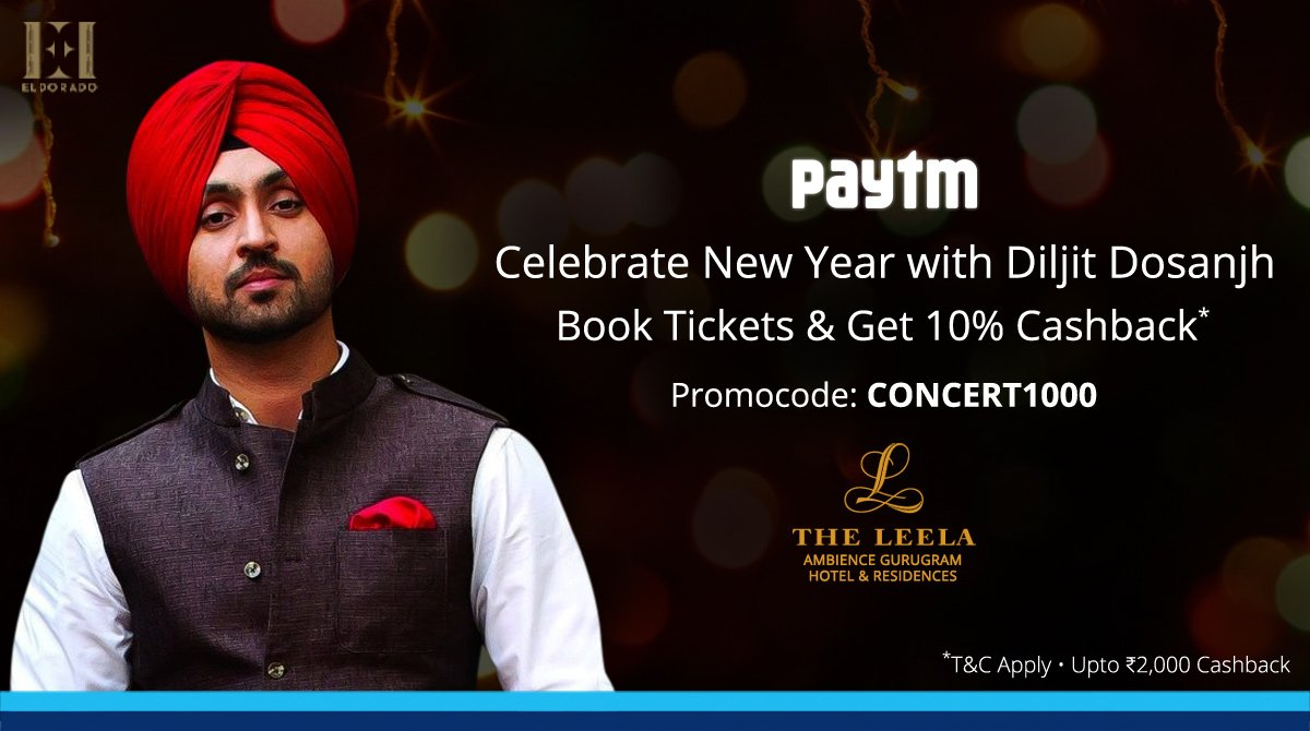 paytm entertainment pa twitter welcome the new year with punjabi singing icon diljitdosanjh book new year bash tickets get 10 cashback https t co tbhkbwfwp9 https t co 3gzm1iwnym twitter
