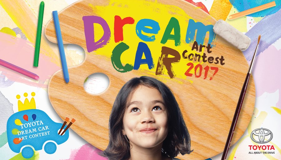The 2017 Toyota Dream Car Art Contest is underway! Find out more here: https://t.co/w0REaC3rau. T&C apply. https://t.co/48uQ5aXQPn
