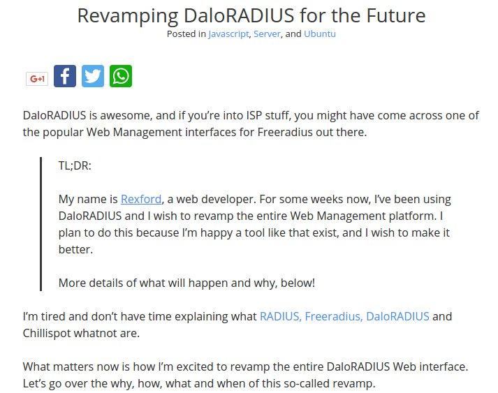 daloradius hashtag on Twitter