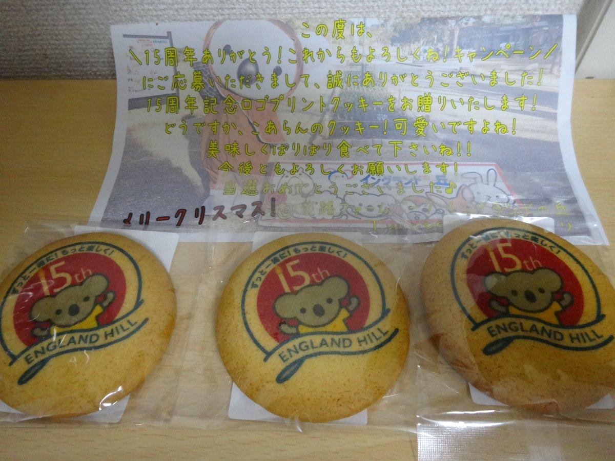 先日「イングランドの丘」より「クッキー」が届きました♪思っていた以上に大きく、味はしっとりしていて、食べごたえがありましたよ♪ #イングランドの丘 https://t.co/uB8WQJj5q4