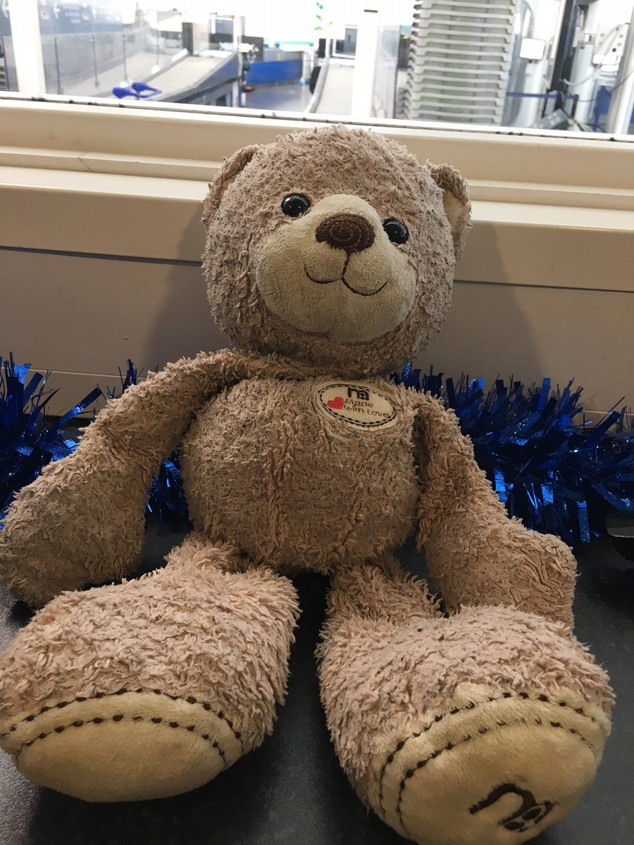 We've just found this well loved Teddy Bear on our Transit Train!